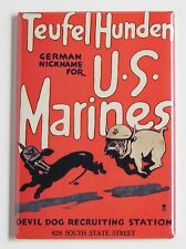Marine Corps FRIDGE MAGNET (2 x 3 inches) recruiting poster devil dog