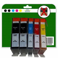 Any 5 non-chipped Compatible Ink Cartridges for HP C309 C309g C309h 364 x5 XL