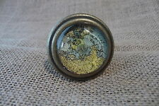 Antique Brass Metal Map Globe Atlas Drawer Pull Knob~Home Decor~Dresser Cabinet