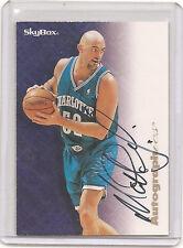 1996-97 Skybox Premium Autographics Baskerball Card Matt Geiger Autograph