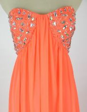 Morgan & Co $200 USA Grand  Evening Prom Formal Cruise Long Dress size 5 Coral