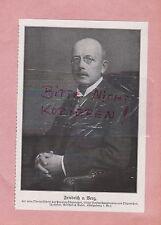 1916, Bildnis Fotografie Friedrich v. Berg Oberpräsident der Provinz Ostpreussen