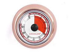 Kikkerland Wind Up COPPER MAGNETIC BACK Kitchen Timer 55 Minute KT051-CO