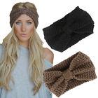 Hot Sale Women Bow Knot Knitting Wool Headband Winter Ear Warmer Crochet Turban