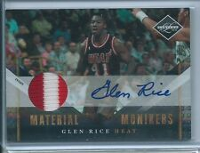 2010-11 Limited Glen Rice Material Monikers GU PATCH RELIC AUTO 22/25 HEAT