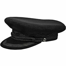 Kashubia Merchant Fleet Officer Peaked Cap ; Traditional Fisherman Skippers Hat