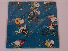 Snoopy Motocross Bike Gift Wrap Paper Bicycle Peanuts Confetti Hallmark Sports