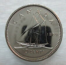 1969 CANADA 10 CENTS PROOF-LIKE COIN