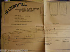 VINTAGE ORIGINAL  MODEL AIRCRAFT PLAN BLUEBOTTLE SLOPE SOARER 55.5 SPAN