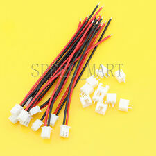 10 Sets XH2.54 Single-Head 2Pin Wire To Board Connector 10cm 22AWG With Socket