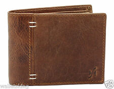Starhide Mens Brown Distressed Hunter Leather Wallet Purse With Gift Box #1050