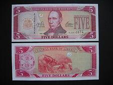 LIBERIA  5 Dollars 2003  (P26a)  UNC