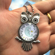"""NEW OWL """"I LOVE YOU TO THE MOON AND BACK"""" Photo Alloy Necklaces & Pendants #17!"""