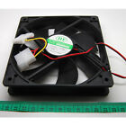 Black 120MM 12CM 4 Pin 12V Sleeve Bearing PC System Case Cooling Cooler Fan