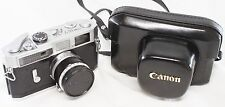Canon 7 35mm Rangefinder Film Camera w/ 50mm F/1.8 Leica Lens Case Made In Japan