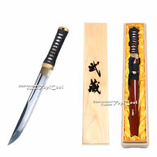 Musashi Brand ASUKA Handmade Japanese Samurai Tanto Sword Sharp with Wooden Box