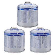 3 x CADAC Schraubkartusche - 500 g Ventil Gaskartusche - Gaskocher Gas Kartusche