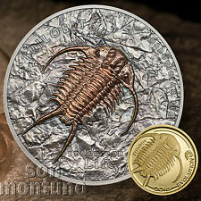 SILVER & GOLD 2 Coin Set -TRILOBITE - Evolution of Life - 2016 Mongolia SOLD OUT