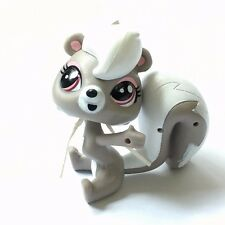 Littlest Pet Shop Hasbro LPS Grey Pink Red Eyes Pepper Clark Skunk Fox Figure