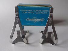 * vintage 1970s/80s campagnolo super record alu pédale orteil clips-petit *