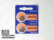 2 Pieces New Made in Japan SONY CR1216 CR 1216 DL1216  Coin Cell Battery 3V