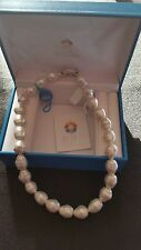 "Joia De Majorca 18"" 12x14mm Barrel Baroque Pearl Necklace"