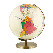 "12.6"" Inch (32cm) Large Premium Antique Desktop World Earth Globe"