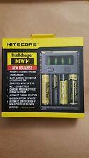 New Nitecore i4 Intelligent 26650 18650 16340 14500 AA Universal Battery Charger