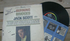 "JACK SCOTT 1964 ORG US-ISSUE CAPITOL ""Burning Bridges"" POP/ROCKABILLY STEREO LP"