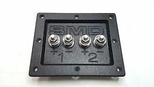 "SMD 2 Channel Heavy Duty Speaker Terminal (Stainless) 3/4"" PVC (Black)"