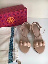 "*NEW* Tory Burch ""Disco"" Sz 7 M Sandals Beige Nude patent balls Ankle strap $375"