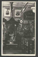 Ca 1928* ANTIQUE CURIO SHOP INTERIOR SHOWS BIPLANE ZEPPELIN SEE INFO