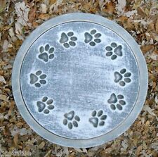 Plaster,concrete dog ring of pawprints mold stepping stone plastic mould
