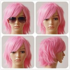 Short Anime Cosplay Wigs Fashion Synthetic Hair Costume Full Head Wig With Bangs