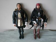 "Pirates-of-the-Caribbean WILL TURNER LOOSE & CAPTAIN JACK SPARROW 12"" NWOB"