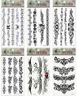 Cuff Back Neck Wrist Ankle Gem Tattoo Mix Bundles Cool Sexy Temporary Tattoos