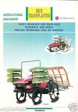 Farm Equipment Brochure - LG Machinery - GP401A GPR680P Rice Transplanter (F3216