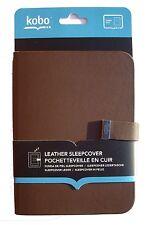 Kobo Sleepcover Ledertasche in braun für Kobo Glo ebook Reader Neu Tasche
