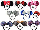 New Disney Parks Minnie Mouse Ears Halloween Headband Christmas Costume Party