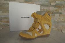 ISABEL MARANT 41 High-Top Sneakers Stiefeletten Booties BAYLEY gelb neu UVP 395€