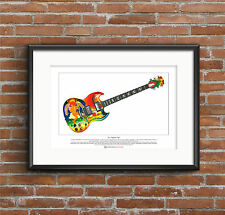 Eric Clapton's Gibson SG Fool Limited Edition Fine Art Print A3 size