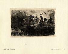 Walter Miehe 2.g. - r. - r. schanzarbeit en Arras guerra pintor * era artist * 1.wk