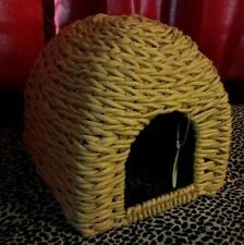 Rabbit Bunny Ferret Guinea Pig Pet Animal Hideaway Grass Bed House Cage Toy NEW!