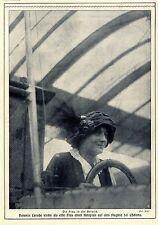 Baronin Laroche (erster weiblicher Pilot) Historische Aufnahme von 1909