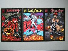 UNTOLD TALES OF LADY DEATH, PURGATORI & CHASITY  Three Books  1st Prints  Chaos