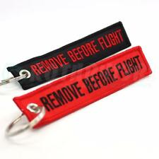 REMOVE BEFORE FLIGHT KEYCHAIN - RED & BLACK COMBO QTY= 2 TAGS  FLAG PILOT CREW