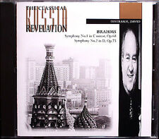David Oistrakh: Brahms Symphony No. 1 & 2 USSR Revelation cd sinfonie