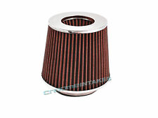 """NEW! RED 08 / 2008 UNIVERSAL 63mm 2.5"""" INCHES SHORT RAM/COLD AIR INTAKE FILTER"""