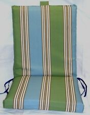 (4) Outdoor Patio Chair Cushions ~ Dockside Stripe ~ 21 x 44 x 2.75 **NEW**