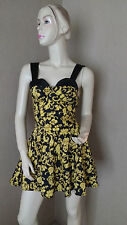 MOTEL ROCKS SKATER STYLE DRESS SIZE XS NEW WITH TAGS FLORAL